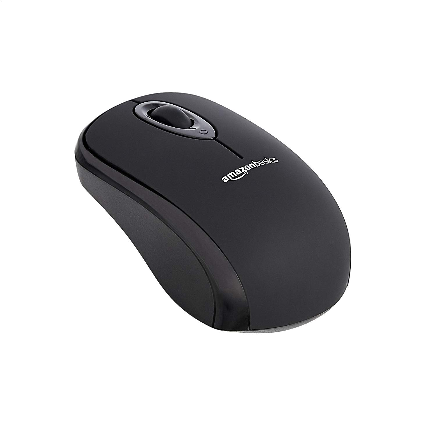 AmazonBasics Wireless Computer Mouse with USB Nano Receiver - Black