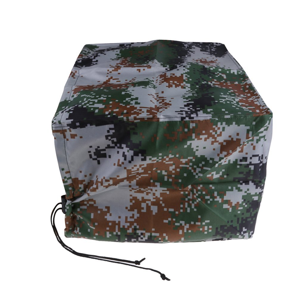 Waterproof Maple Leaf Camo Outboard Motor Boat Engine Cover 2 to 15 HP