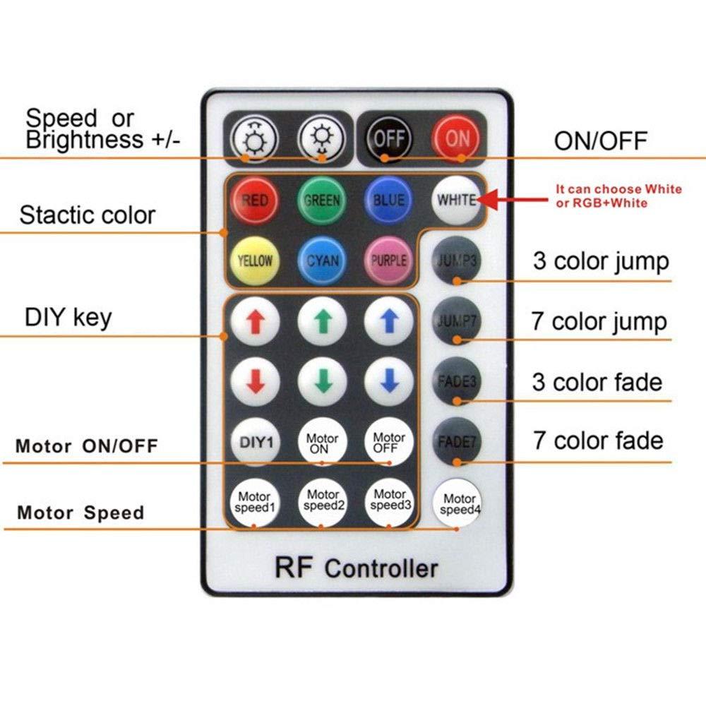 FidgetFidget 32W RGB Twinkle LED Fiber Optic Star Ceiling Lights Kit 450pcs 0.75mm 3m EU Power Plug by FidgetFidget (Image #5)