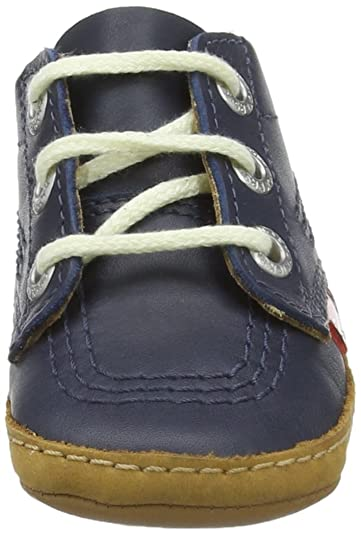 Amazon.com | Kickers 1st Kicks B Navy Leather Baby Soft Soles Shoes | Shoes