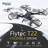 Drone with Foldable Design , Flytec T22 2.4Ghz RC Drone Quadcopter with Headless Mode Altitude Hold High Capacity Battery Long Flying Time Drone for Beginners