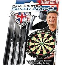 26g Ringed Harrows Eric Bristow Silver Arrows Darts Set by PerfectDarts