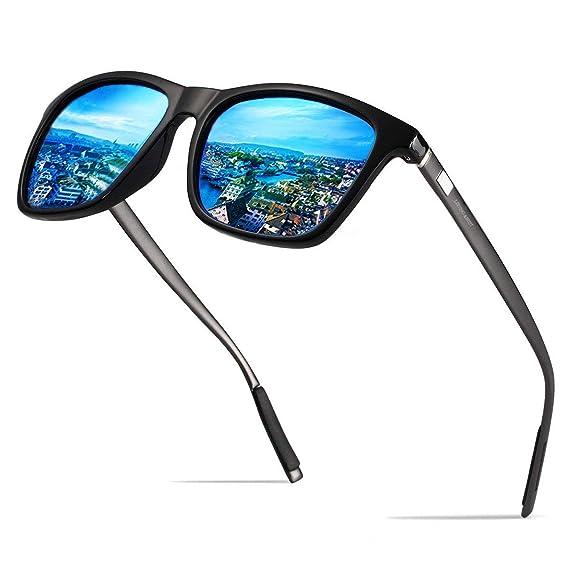 Gafas de sol polarizadas Hombre Mujer vasos para Outdoor Sport, 100% protección UVA gafas unisex Moderno conductores para golf/conducción Outdoor ...