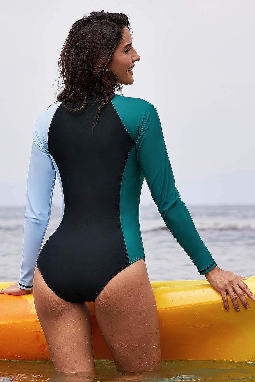 SailBee Womens One Piece Rashguard Wetsuit Swimsuit Sun Protection