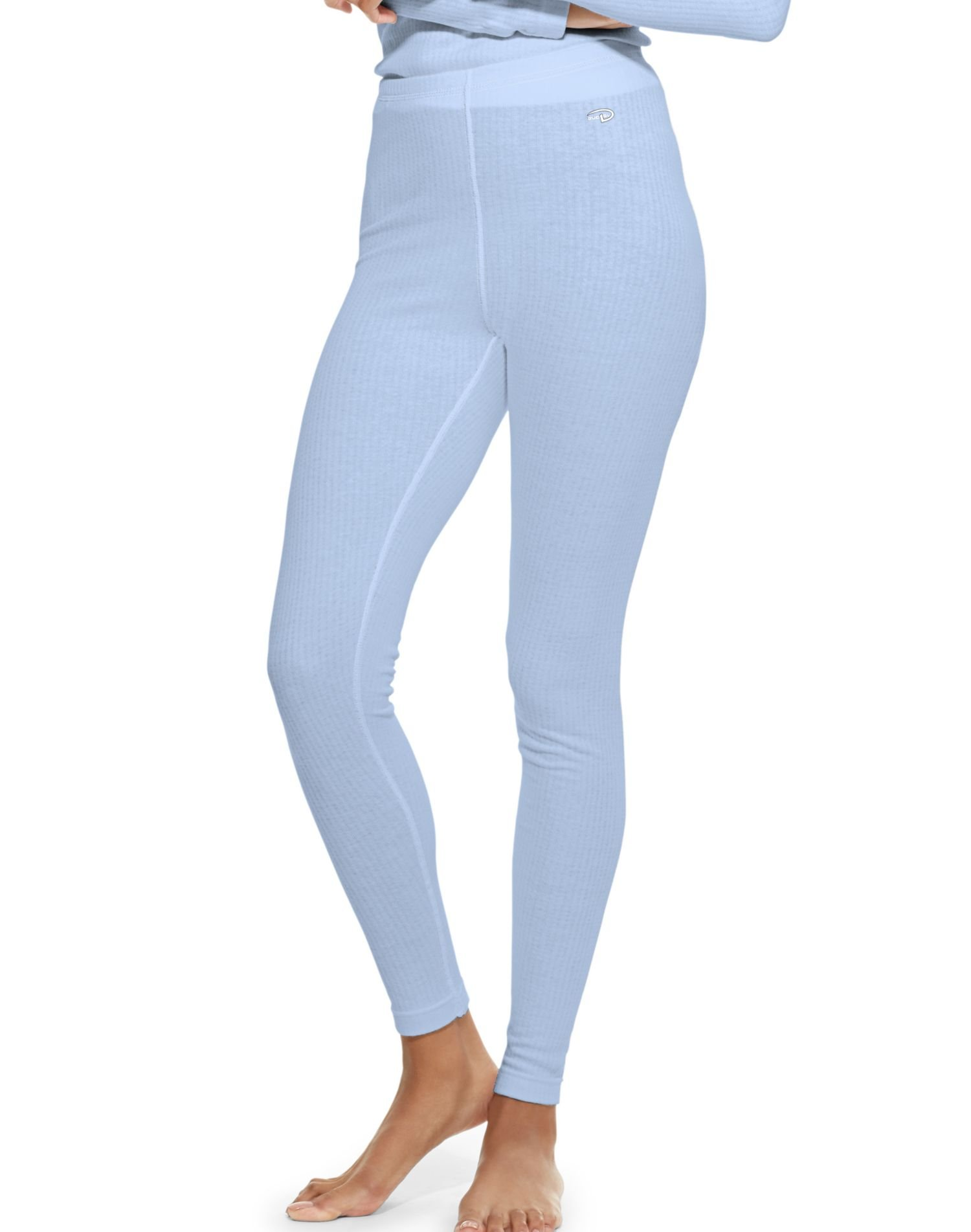 Duofold Women's Mid Weight Wicking Thermal Leggings, Frost, Small