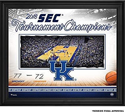 "Kentucky Wildcats Framed 20"" x 24"" 2018 SEC Men's Basketball Tournament Champions Collage - Fanatics Authentic Certified"