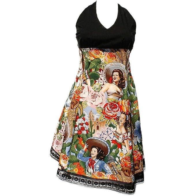 d9d427904a4 Amazon.com  Hemet Women s Swing Me Down Mexican Senoritas Rockabilly Full  Dress  Clothing