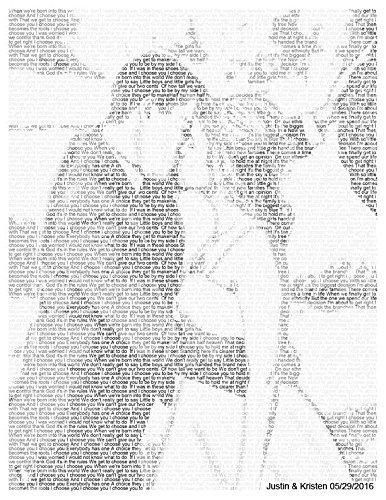 Amazon Com 1st Anniversary Gift Wedding Vow Art Song Lyric Art