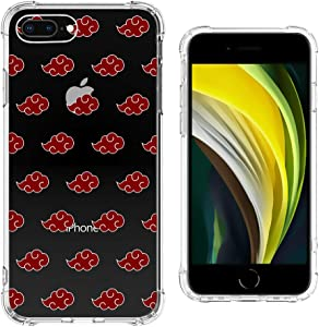 iPhone 8 Plus Case,Clear Design 360 Full Body iPhone 7 Plus Cases for Boys Girls,Reinforce Corner Soft Silicone TPU Anti Yellow Transparent Cushion Cover Case for iPhone 7/8 Plus 5.5 inch