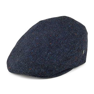 a88c124ab5d45c City Sports Hats Herringbone Virgin English Wool Flat Cap - Navy Blue  2XLARGE: Amazon.co.uk: Clothing