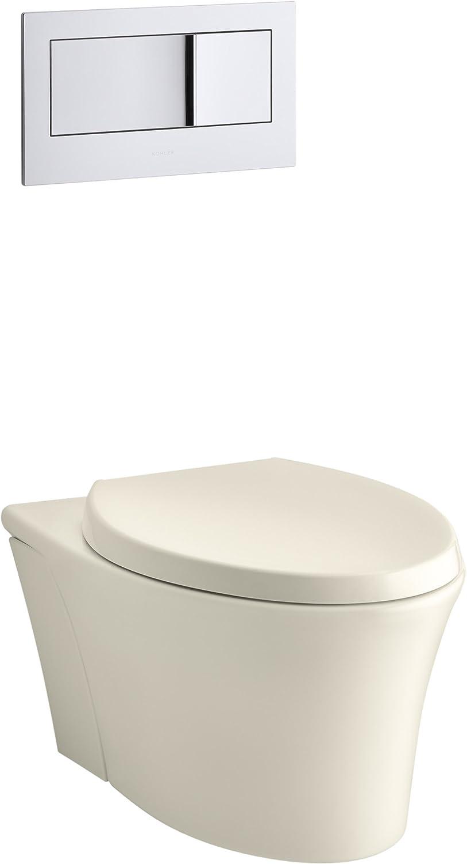 KOHLER K-6303-0 Veil Elongated Dual-Flush Wall-Hung Toilet