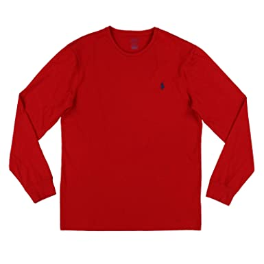 a7437543 Polo Ralph Lauren Mens Long Sleeve Crew Neck Custom Slim Fit T-Shirt ...