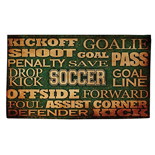 Thumbprintz Soccer Words Rug (4' x 6') by Thumbprintz