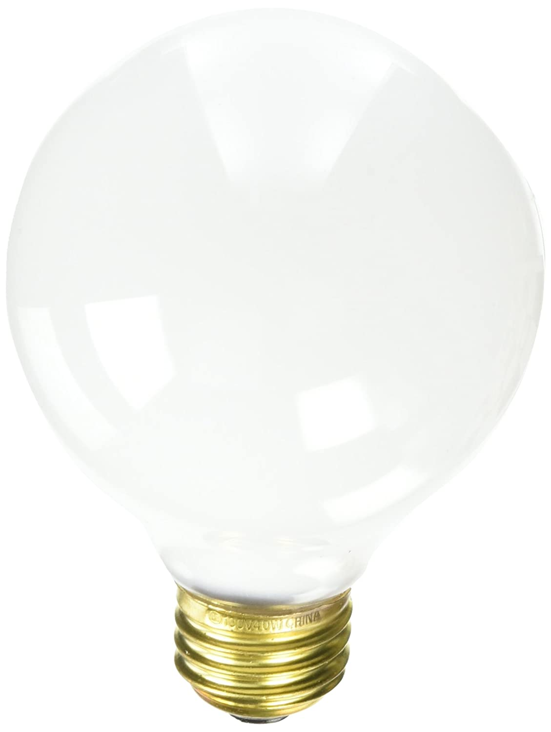Bulbrite 861022 40 W Dimmable G25 Shape Incandescent Bulb E26 Base with Medium Screw 24 Pack White