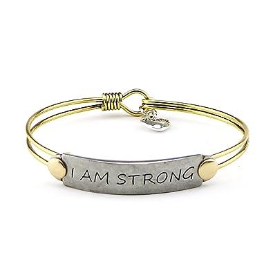 Amazoncom Yiyang Encourage Vintage Brave Brass Bangle Bracelet For