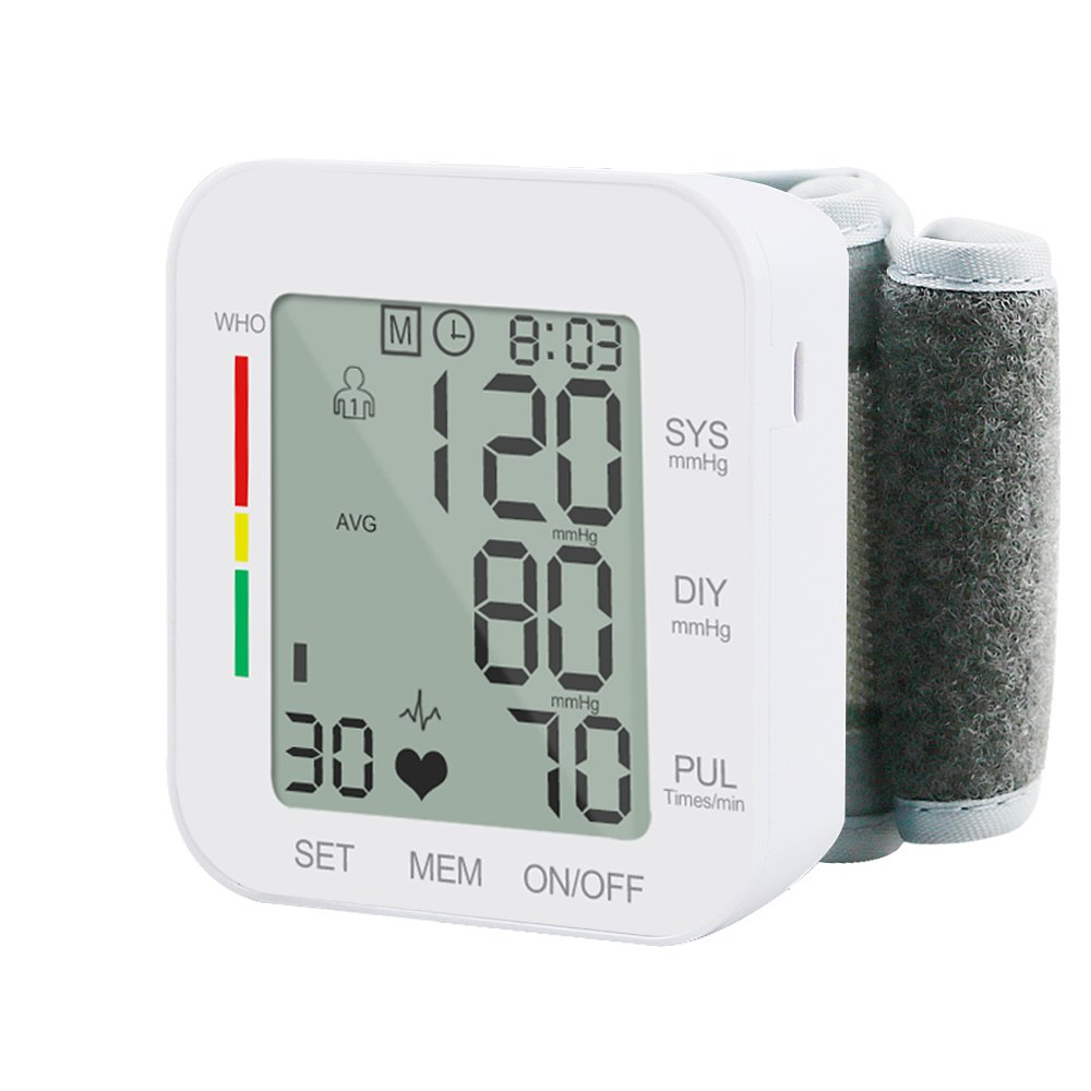 Wrist Blood Pressure Monitor, Electype Large Screen Automatic High Blood Pressure Meter Machine with Adjustable Wrist Cuff for Accurate BP Detection & Irregular Heartbeat Monitoring