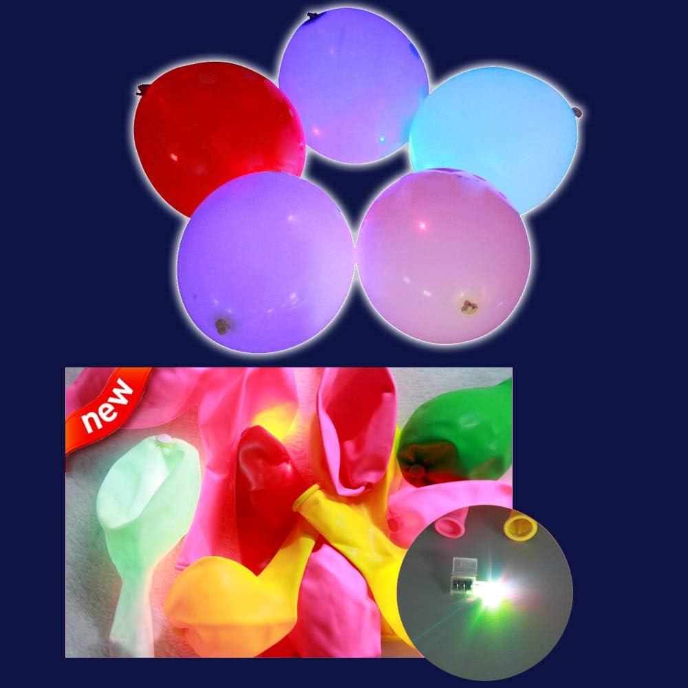 Yunfan 50 x Ballon LED Ballons Anniversaire Lumineux Decoration Lumineuse F/ête Marriage,etc. Cadeau Enfant//Adulte Id/éal pourAnniversaire Soir/ée