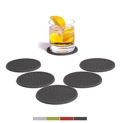 vendolo Cristal de posavasos (6 unidades, redondo) Color Elegir/Bebidas de posavasos