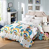 Cotton quilt cover,Quilt cover Quilted Single Plus cotton Thicken Lace Keep warm-A 220x240cm(87x94inch)
