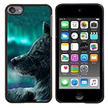 For Apple iPod Touch 6 6th Generation - Wolf Blue Sky Wild Dog Animal Forest Fairytale Case Cover Protection Design Ultra Slim Snap on Hard Plastic - God Garden -