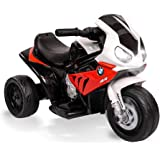 ROVO Kids Ride-on Motorcycle Licensed BMW S1000RR Electric Motorbike Police Red