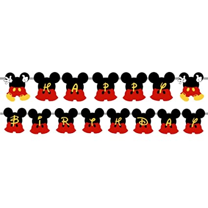 Party Propz Mickey Mouse Happy Birthday Banner For Mickey Mouse