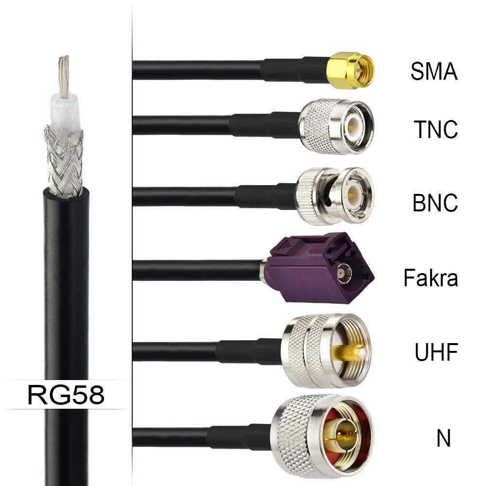 50 Meters Superbat RG58 RF Coaxial Coax Cable 164 Feet