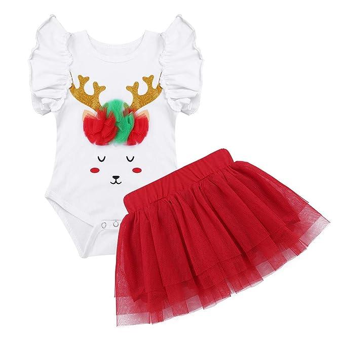 YiZYiF Disfraz Bebé Pelele con Tutú Falda 2pcs Bebé niña Conjunto para Infantil Halloween Carnaval Navidad: Amazon.es: Ropa y accesorios