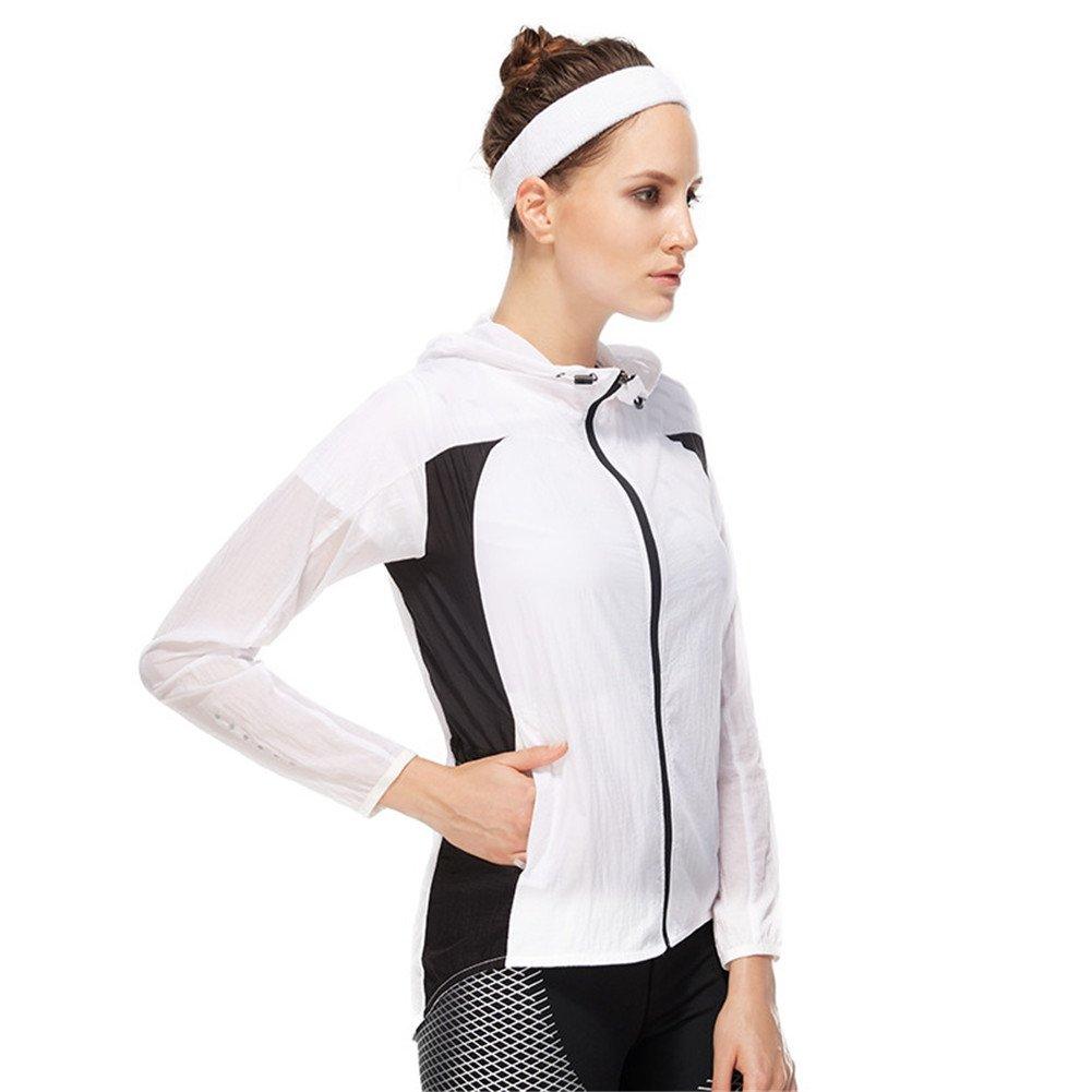 Ladies Sports Thin Windbreaker Hooded Cardigan Skin Zipper Sunscreen Clothing Vansydical