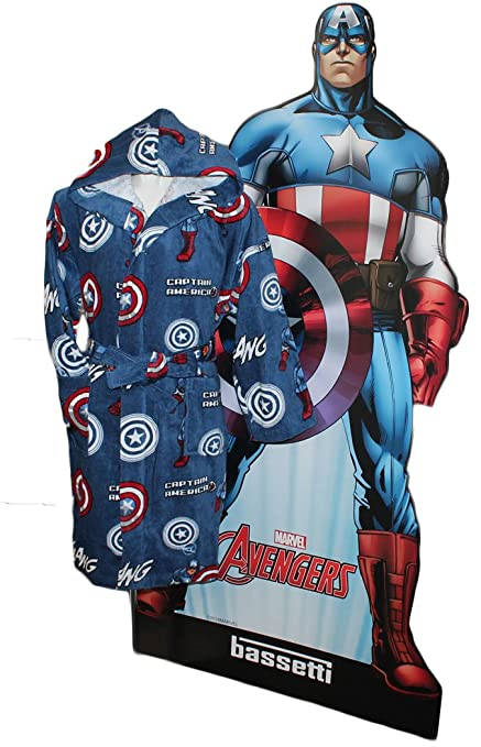 Original Marvel Captain America hooded dressing gown   bathrobe for ages  4-6 by Bassetti c586161df