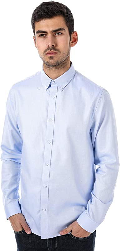 Ben Sherman - Camisa Formal - Manga Larga - para Hombre Azul Azul 16: Amazon.es: Ropa y accesorios