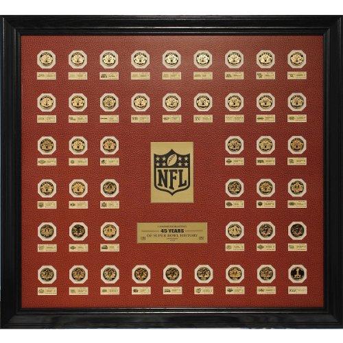 (Highland Mint NFL 45 Years of Super Bowl History Flip Coins Framed Set)