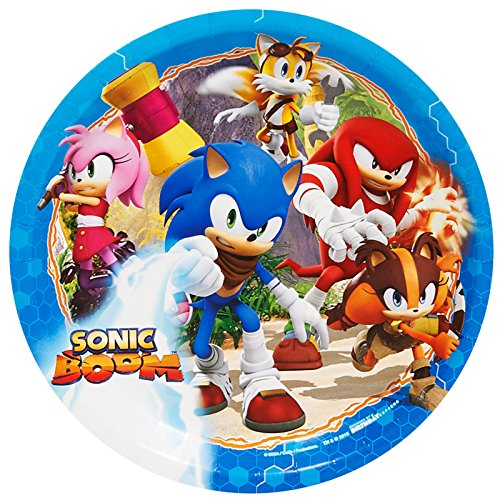 BirthdayExpress Sonic Boom Party Supplies - Dinner Plates