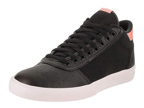 low priced dbb62 4f979 Adidas Unisex Lucas Premiere Mid Core BlackCloud WhiteHaze Coral Skate  Shoe 7.5