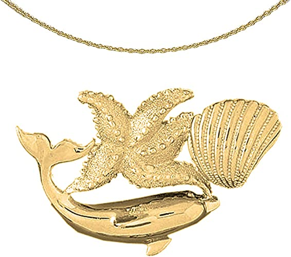 14K Rose Gold-plated 925 Silver Dolphin Pendant with 18 Necklace Jewels Obsession Dolphin Necklace