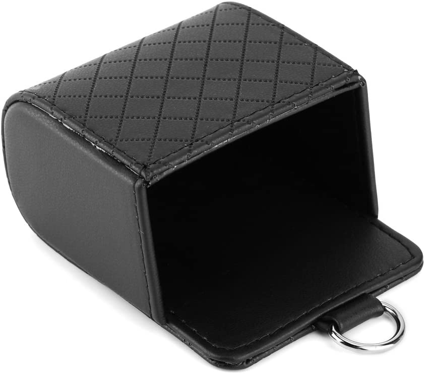Qii lu Car Air Vent Outlet Organizer Storage Bag Phone Case Box Holder Pocket,Storage Pouch(Black)