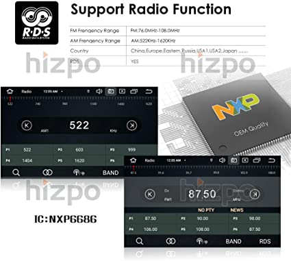 hizpo 9 Pulgadas Android 10 Auto estéreo Apoyo Radio Video Player ...