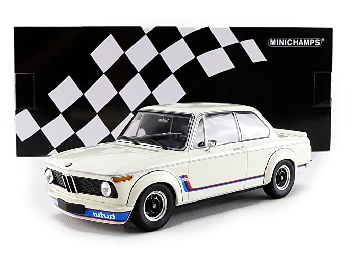 Amazon.com: BMW 2002 Turbo 1973 blanco escala 1: 18 ...