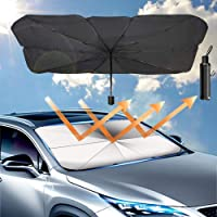 Car Umbrella Sun Shade Cover, Foldable Sun Shades Car for Windshield Parasol to Keep Your Vehicle Cool and Damage Free…