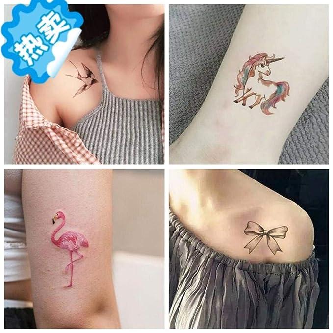 Tatuaje Ins Girl Heart Tattoo Stickers Impermeable Gato Patrón ...
