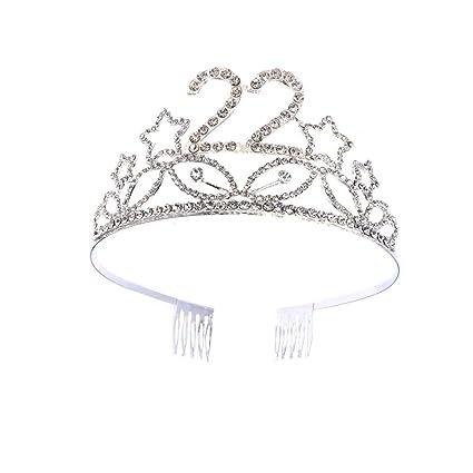 Lurrose Corona Cumpleaños 22 Años Diadema Cumpleaños Tiara ...