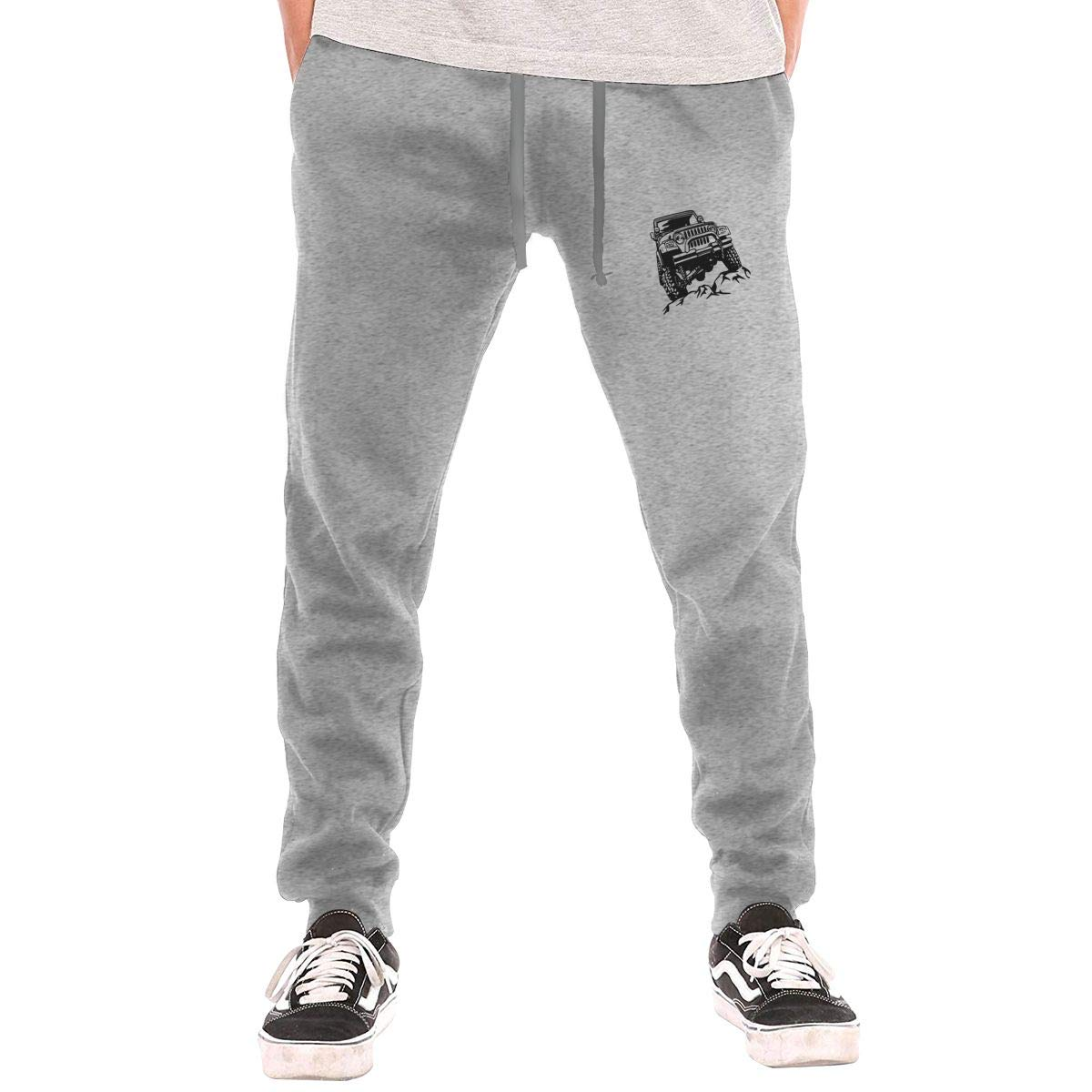 HoodCup Jeep Wrangler Logo Mens Sweatpants Gym Athletic Pants Sport Joggers Workout Sweat Pants