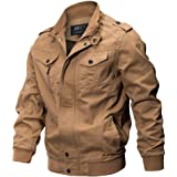 Hot Sale,Mens Heavyweight Jackets WUAI Long Sleeve Zip Slim Fit Plus Size Casual Military