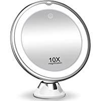 Amazon Price History for:KOOLORBS 2020 New Version 10X Magnifying Makeup Mirror with Lights, 3 Color Lighting, Intelligent Switch, 360 Degree…