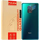 [3-Pack] PULEN Camera Lens Protector for Xiaomi Redmi Note 9 Pro/Note 9 Pro Max,9H Hardness Tempered Glass HD Clear Bubble Free Anti-Scratch Glass Lens Protector