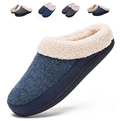 4b01100bad4 Mens Indoor Clog House Slippers- Felt Upper