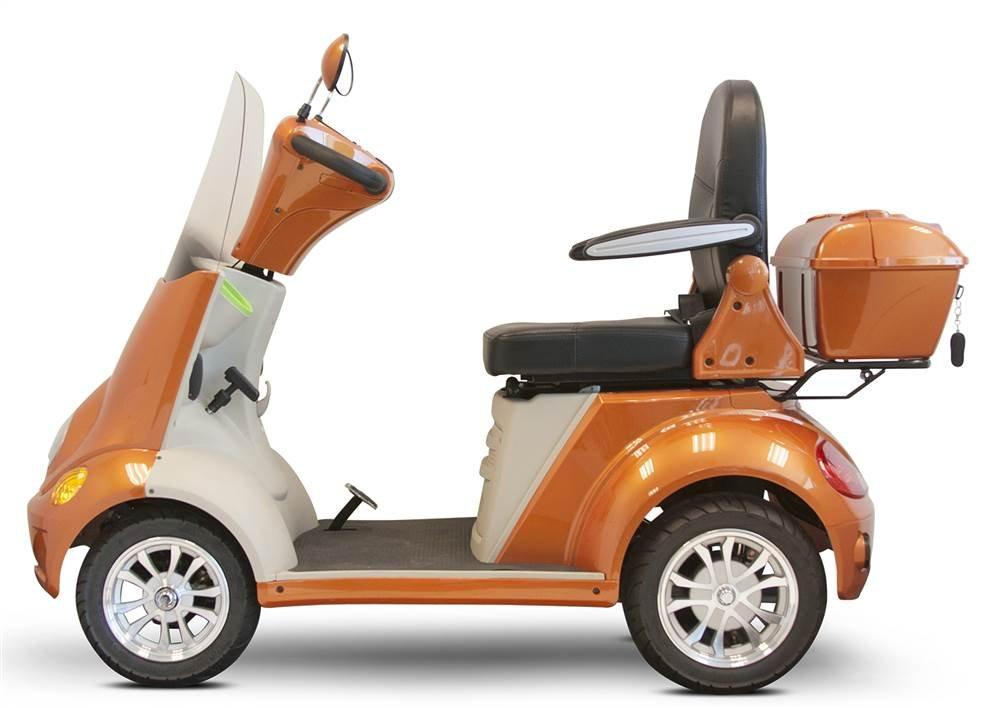 E-Wheels EW-52 4-Wheel Mobility Scooter, Heavy Duty 700 Watt Motor, 500 lbs Capacity, Ships Fully Assembled