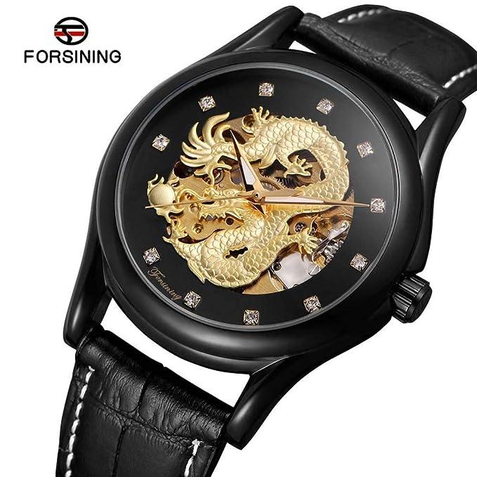 Hermosos A3 Del Mecanico Relojes Forsining Mecánicos Hombres Reloj ED9WH2IY