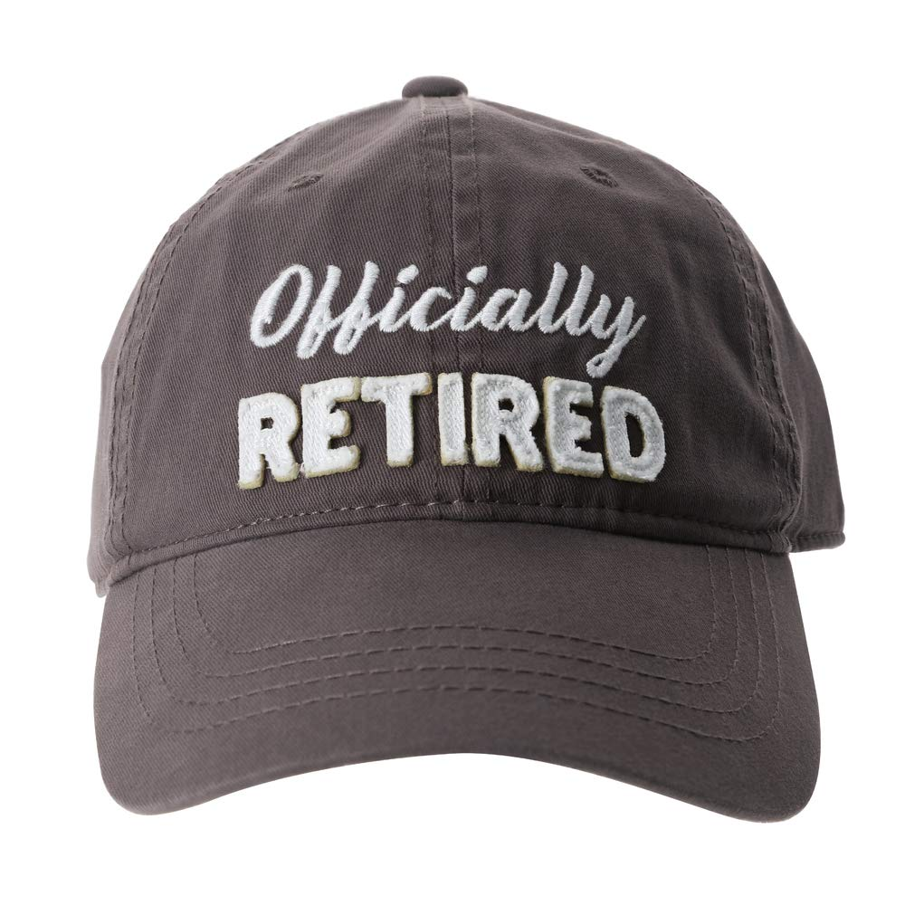 Pavilion - Officially Retired - Gray Baseball Cap Hat - Retirement Gift For Him Or Her