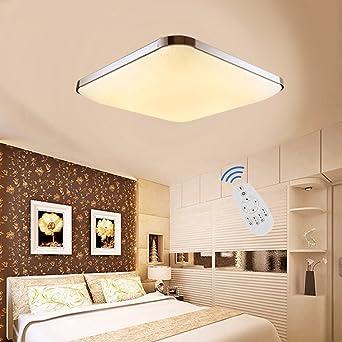 EtimeR LED Deckenleuchte Dimmbar Deckenlampe 24W Modern Wohnzimmer Lampe Schlafzimmer Kche Panel Leuchte 2700